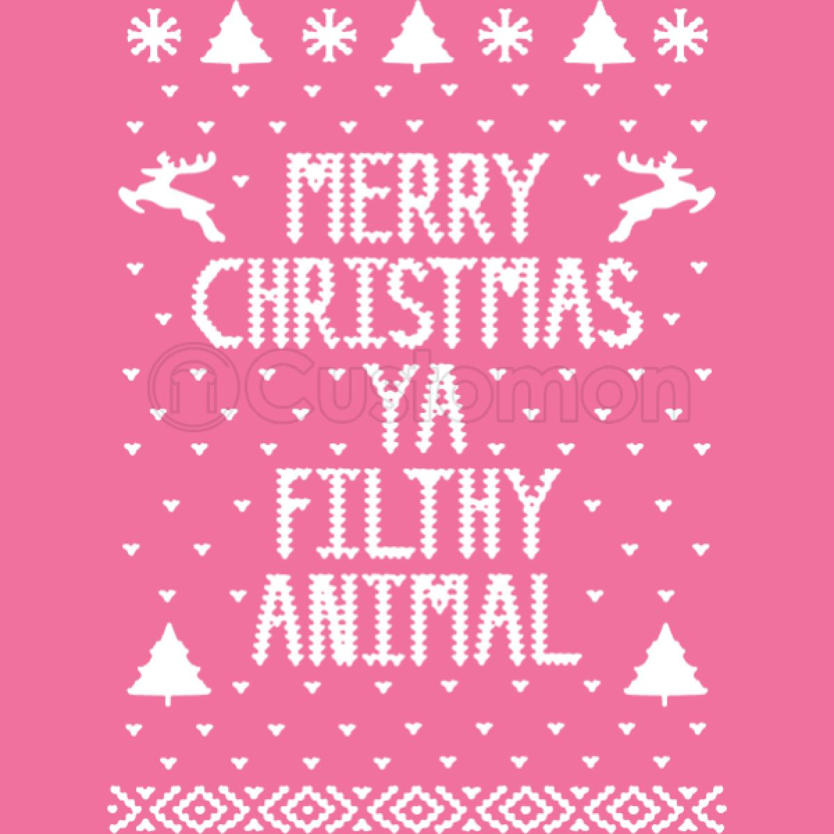 Merry Christmas Ya Filthy Animals Baby Onesies Customon