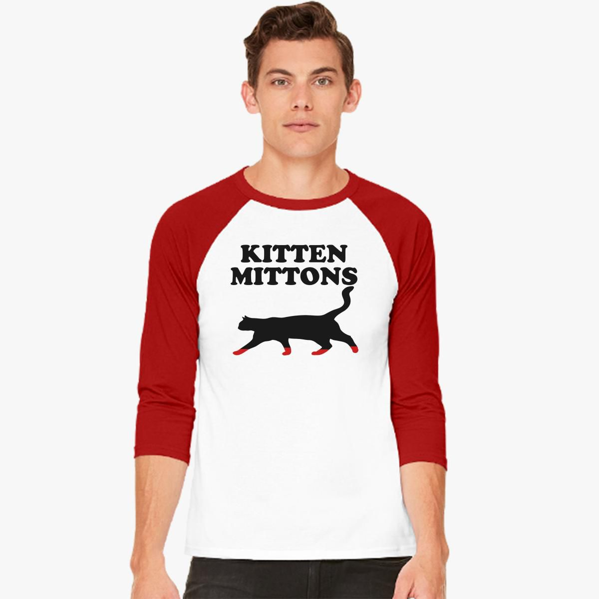 Kitten Mittons Baseball T-shirt