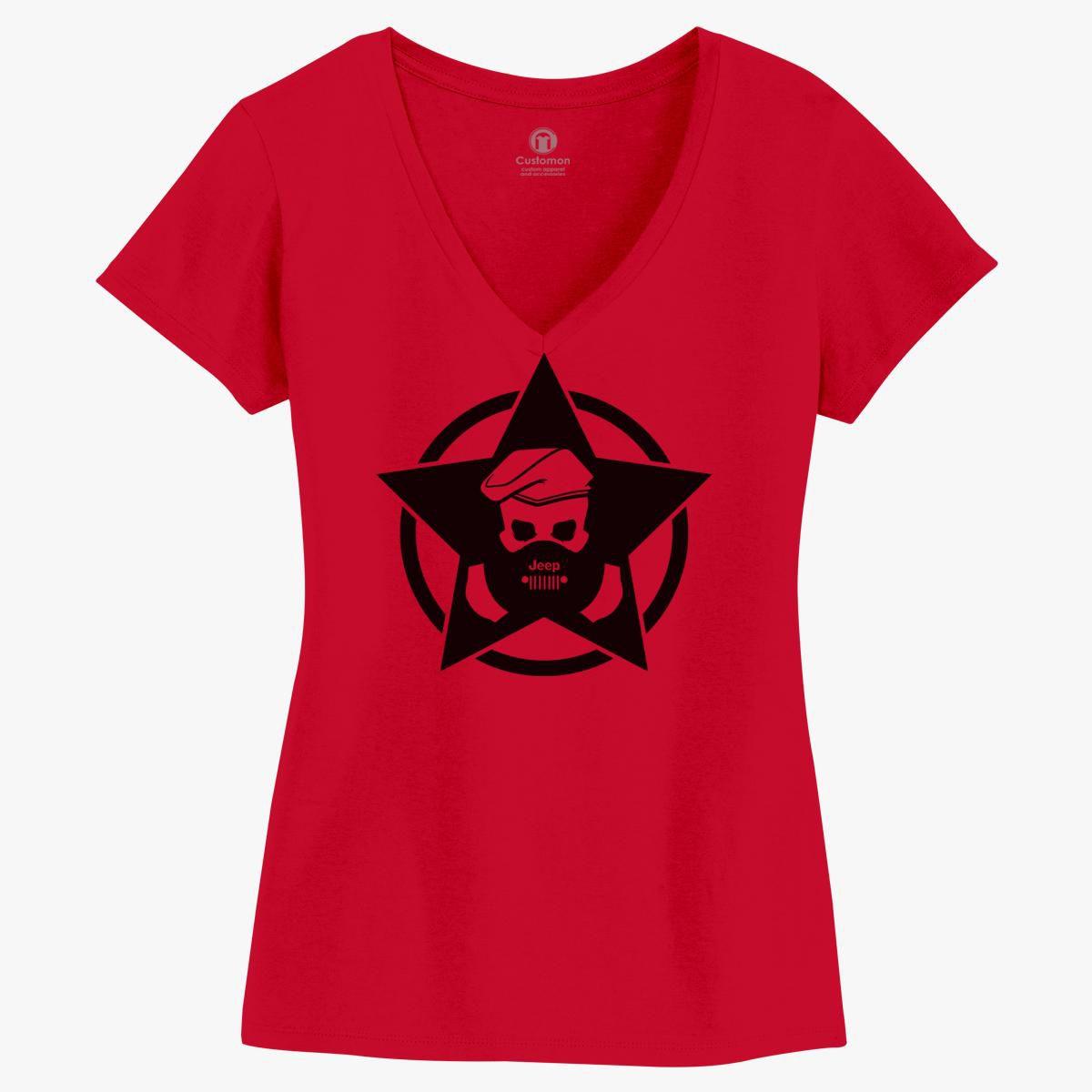 Jeep Wrangler Club Logo Women S V Neck T Shirt Customon