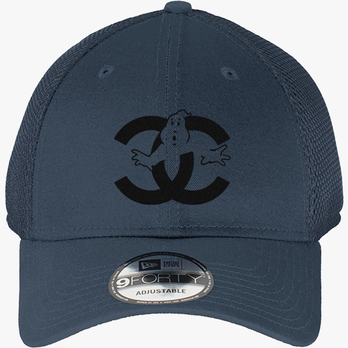 08966e11e75 chanel cc parody logo ghost New Era Baseball Mesh Cap - Embroidery
