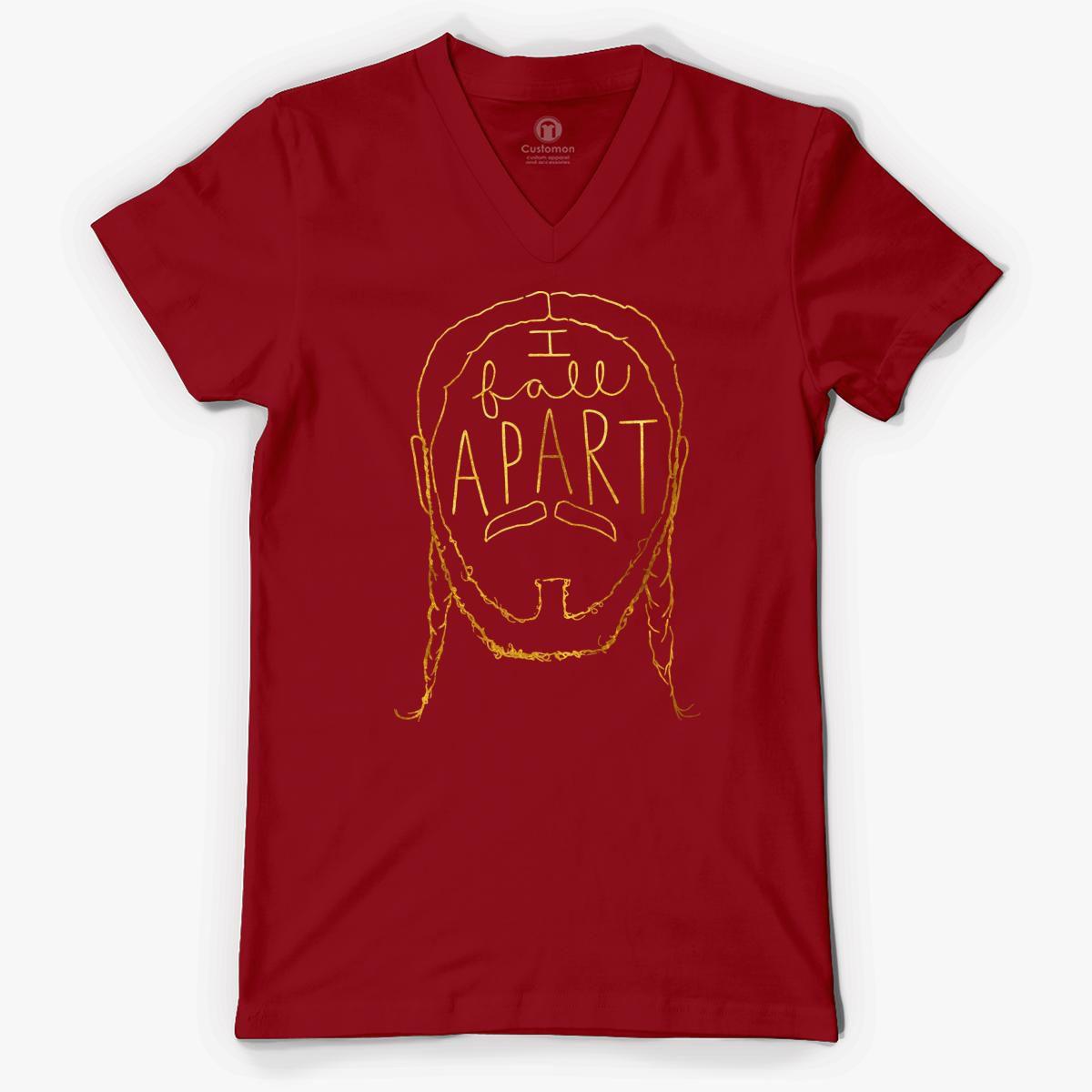 Post Malone I Fall Apart Guitar: Post Malone I Fall Apart V-Neck T-shirt