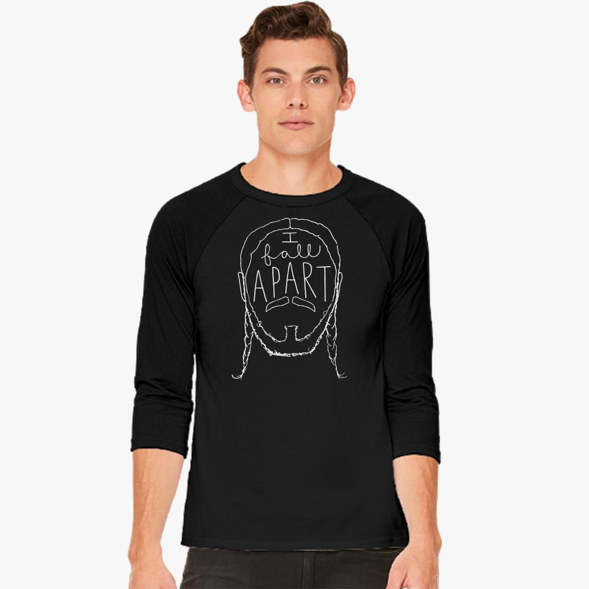 Post Malone I Fall Apart Guitar: Post Malone I Fall Apart Baseball T-shirt