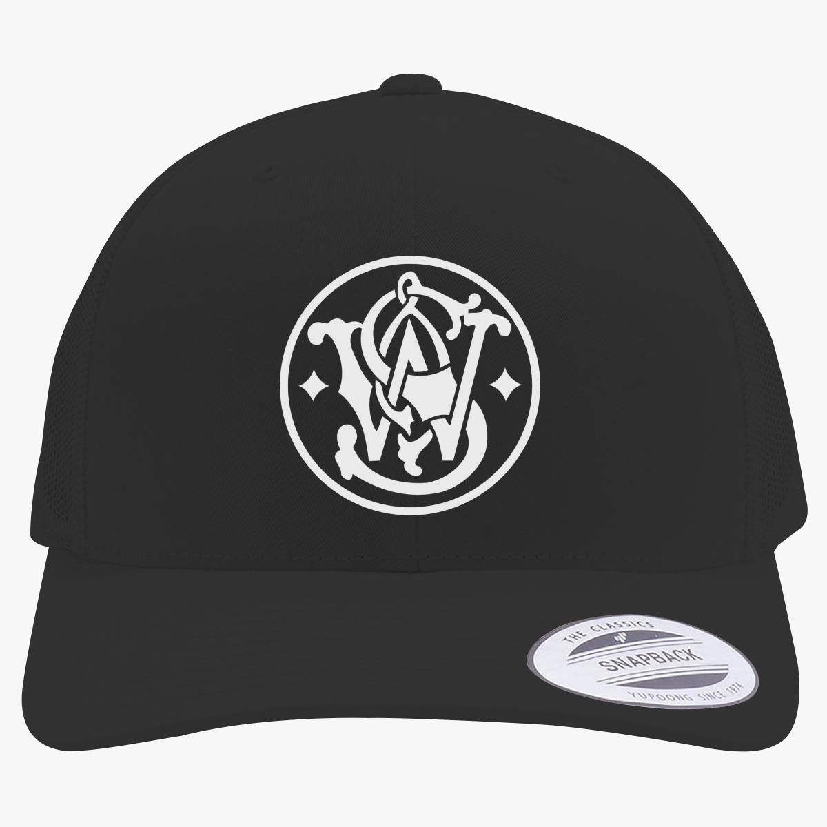 80b28a29b Smith and Wesson Logo Retro Trucker Hat - Customon