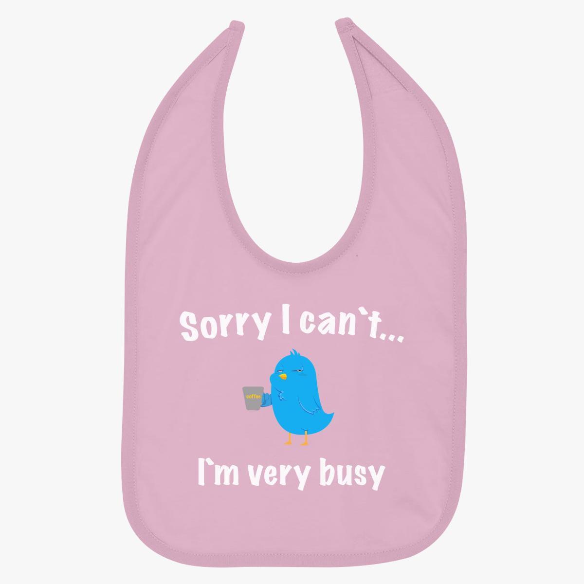 I am very busy Baby Bib - Customon