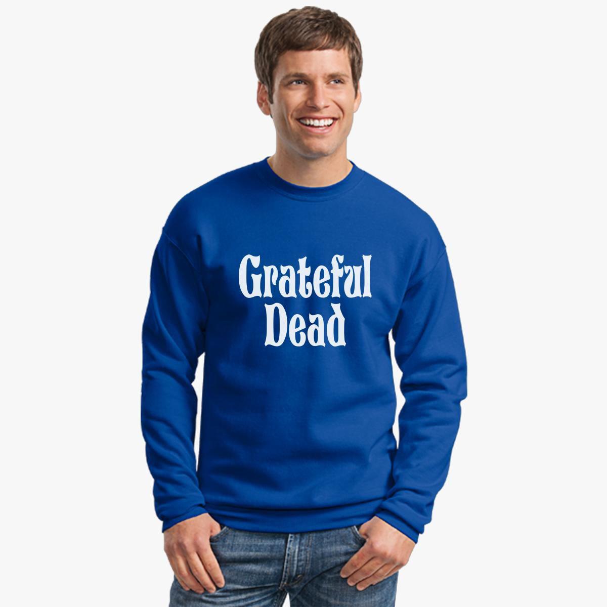 Grateful Dead Trucker Hat: Grateful Dead Band Logo Crewneck Sweatshirt