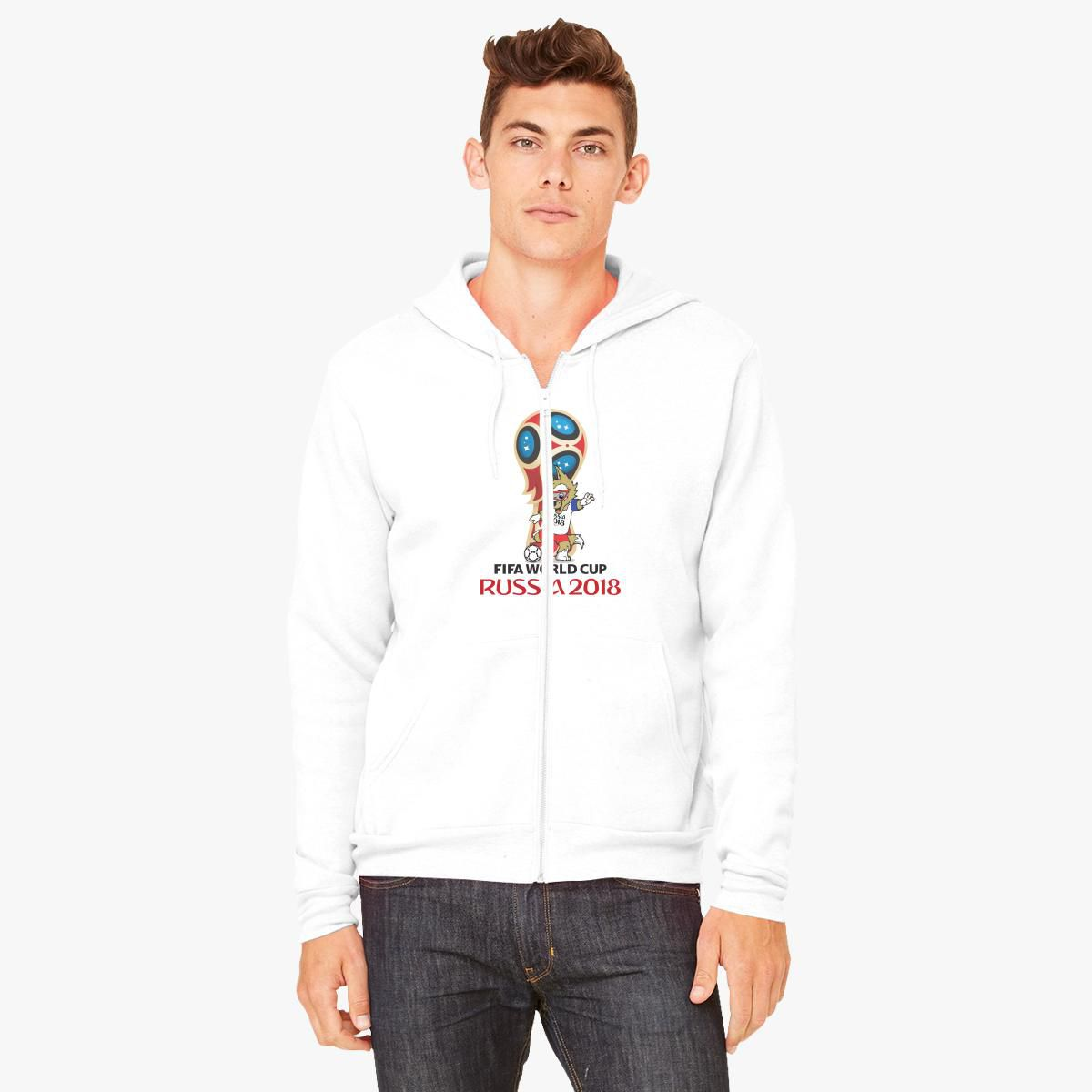 e82b7268d Russia World Cup 2018 Mascot Zabivaka Unisex Zip-Up Hoodie ...