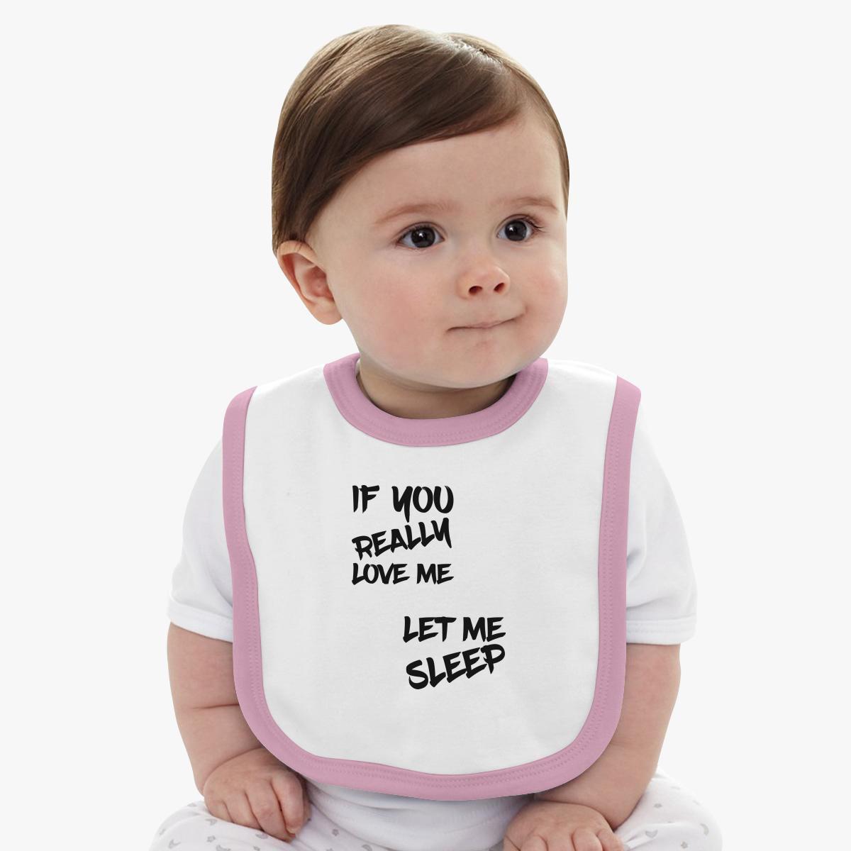 Let me sleep Baby Bib - Customon
