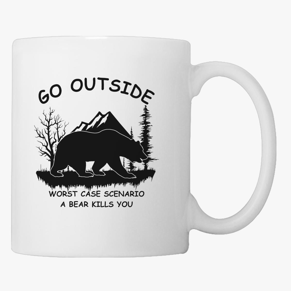 A Outside Go Customon You Coffee Bear Worst Kills Scenario Mug Case byY76fgv
