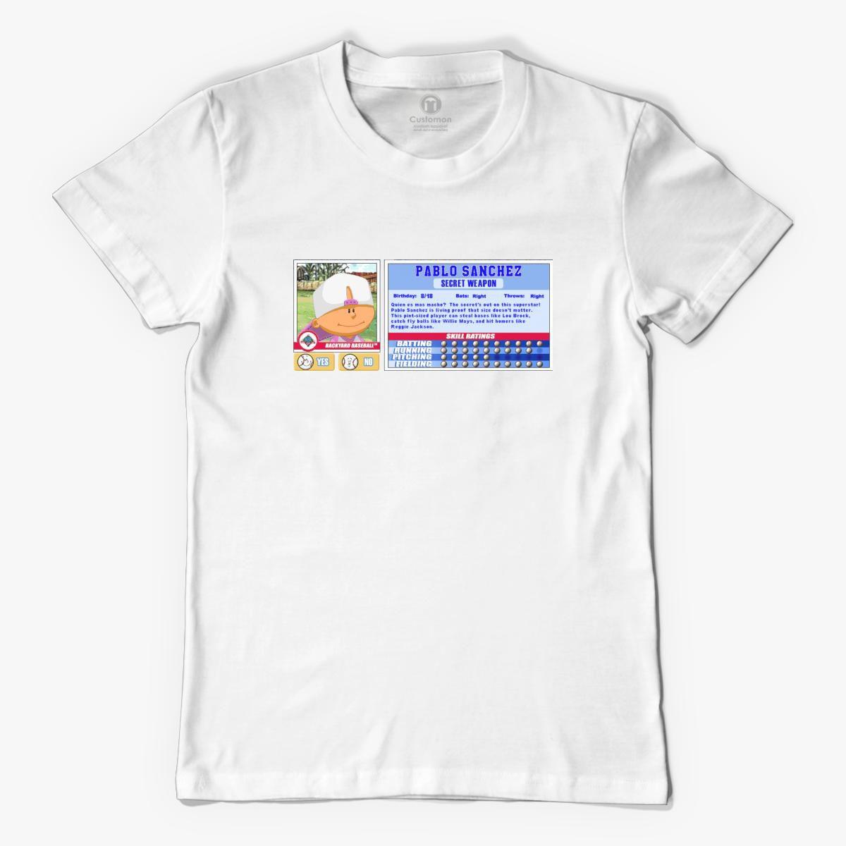 Pablo Sanchez - Backyard Baseball Stat Card Men's T-shirt ...