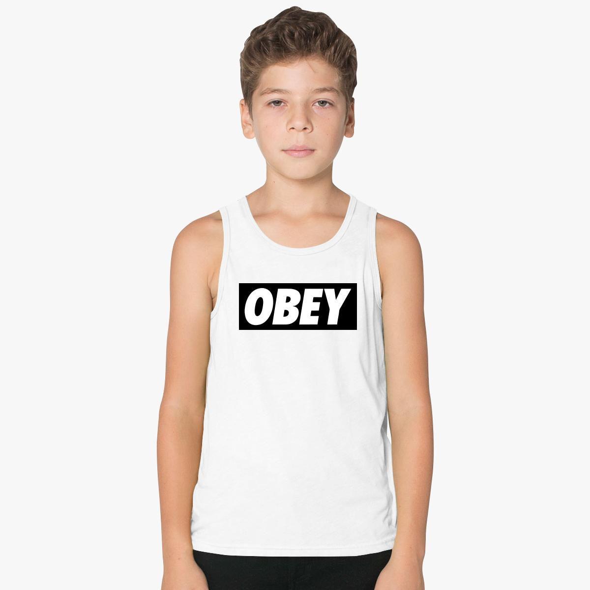 91747a7c2a7055 obey logo Kids Tank Top - Customon