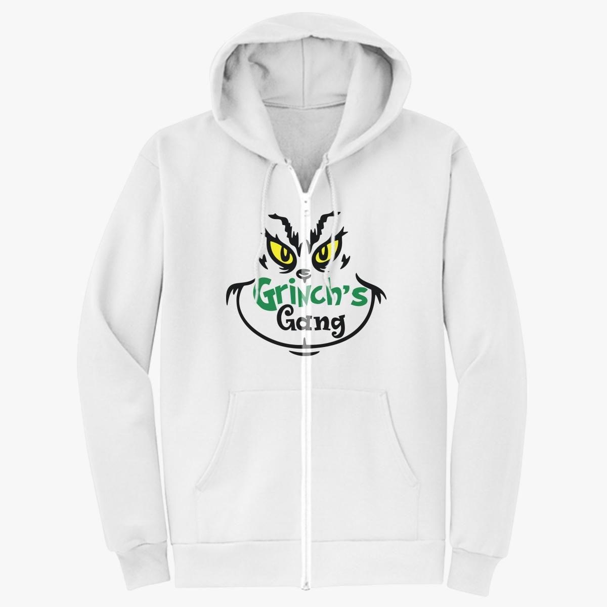 Grinch's Gang, Grinch T-Shirt Unisex Zip-Up Hoodie - Customon
