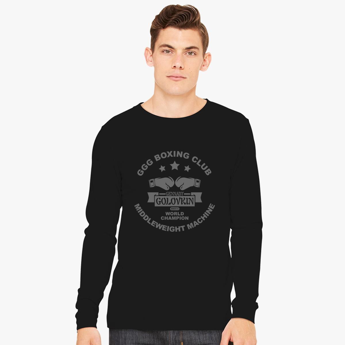 88f3f6cd2af GGG Boxing Club Long Sleeve T-shirt - Customon