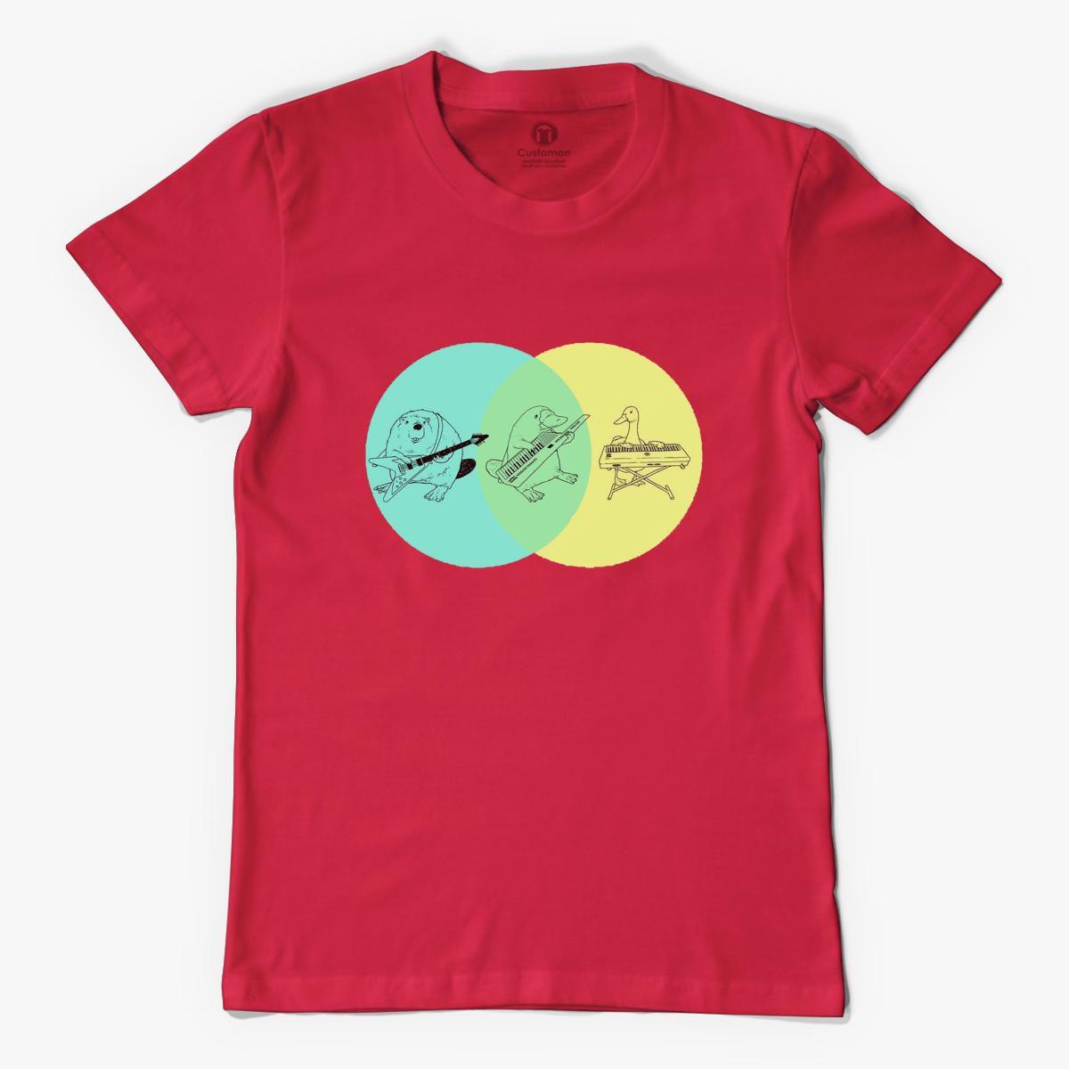 keytar platypus venn diagram men u0026 39 s t-shirt