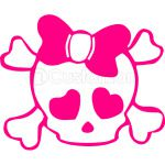 SKULL WITH BOW
