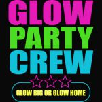 Glow Party Crew Aunt Birthday T Shirtaunt
