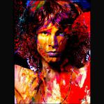 Jim Morrison Painted Art Poster