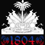 Haiti Independence gold flag day 1804