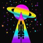 Rocket Spaceship Saturn T-Shirt