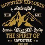 Mountain Explorer Wild life the Spirit of Adventure T-Shirt