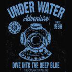Under Water Adventure T-Shirt - Diver T-Shirt