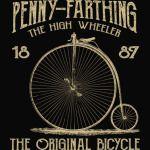 Penny Farthing Bike Retro Vintage Bicycle T-Shirt