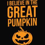 Halloween Shirt Believe In The Great Pumpkin Gift Tee