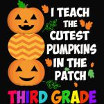 I Teach The Cutest Pumpkins In The Patch Third Grade Halloween