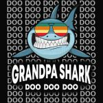 Grandpa Shark Baby Mommy Daddy Matching Family Shark TShirt