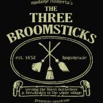 THE THREE BROOMSTICKS SIGN HARRY POTTER