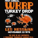 First annual WKRP Turkey Drop with Les-Nessman Funny Shirts