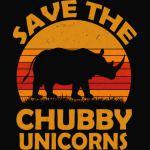 Save The Chubby Unicorns Shirt. Vintage Retro Colors Tshirt