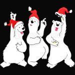Dancing Bears Christmas Shirt Cute Bear Xmas Tshirt