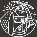 Van, Surf, and Beach (for Dark)