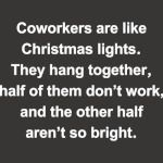 CO WORKERS ARE LIKE CHRISTMAS LIGHTS