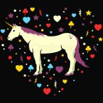 unicorn in the heart of love