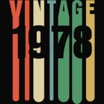 41th Birthday Retro Design - Vintage 1978