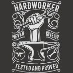 hard worker never give up