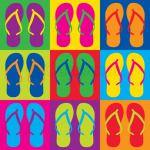 Pop-Art Flip-Flops