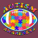 Autism Awareness FootBall