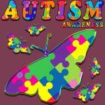 Autism Awareness Butter Flies