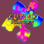 Autism Awareness Rainbow Puzzle Man