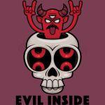 Possessed Skull Evil Inside