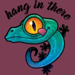 Hang In There Colorful Gecko