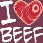 I Love Beef - White Text Version