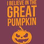 Halloween Shirt Believe In The Great Pumpkin Gift Tee