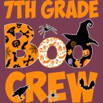 7th Grade Tshirt Cute Boo Crew Teacher Kids Halloween