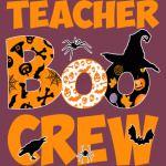 Halloween Teacher Shirt Cute Boo Crew Teacher Tshirt