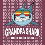 Grandpa Shark Baby Mommy Daddy Matching Family Shark TShirt