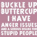 BUCKLE UP BUTTERCUP I HAVE ANGER ISSUES ...