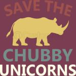 Save The Chubby Unicorns Shirt. Vintage Retro Colors Tshirt